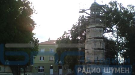 Започна ремонтът на символа на Нови пазар – Часовниковата кула.