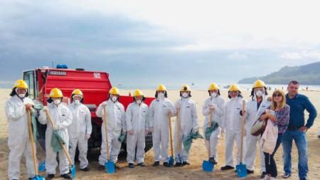 Отрядът доброволци към Община Варна