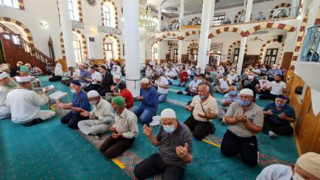 Kırcali'de Kurban Bayramı namazı