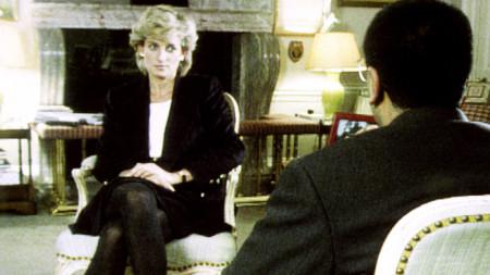 Кадър от интервюто на Мартин Башир с принцеса Даяна от 1995 г.