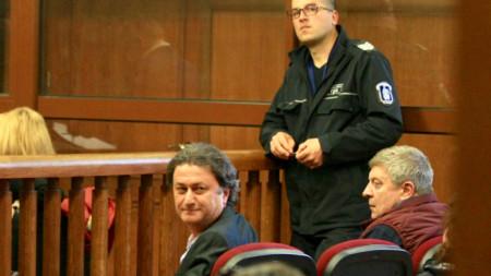 Милен Пенчев, директор на териториалното поделение на НОИ в Силистра, на делото в Специализирания наказателен съд в София за мерките за неотклонение на трима от обвиняемите за източване на бюджета на института.