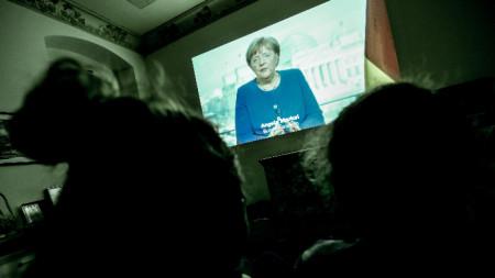 Изявление на Ангела Меркел във връзка с пандемията от коронавирус.