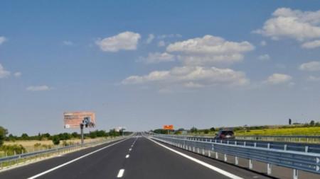 Ремонтираният участък от магистрала
