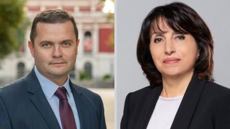На балотаж за кмет на Русе са кандидатът на БСП Пенчо Милков (вляво) и Диана Иванова – ГЕРБ.