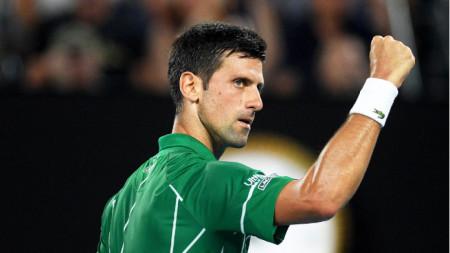 Новак Джокович спечели в 3 сета.