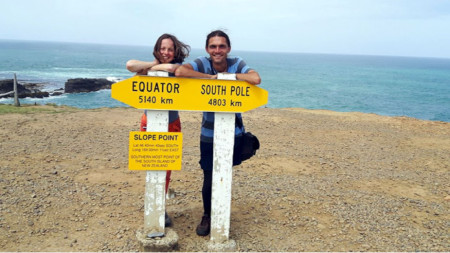 At Slope Point – the southernmost point of New Zealand South Island