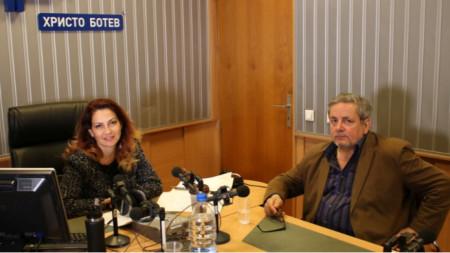 Ива Дойчинова и Веселин Ранков в студиото на