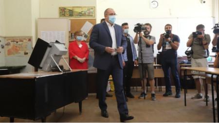 President Rumen Radev at the polling station