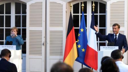 Меркел и Макрон