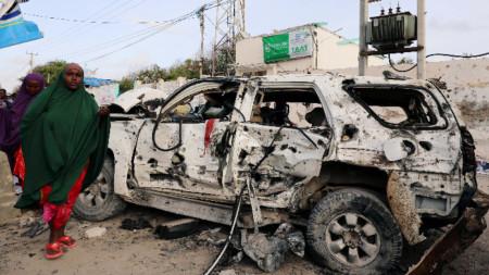 Терористична атака в сомалийската столица Могадишу.