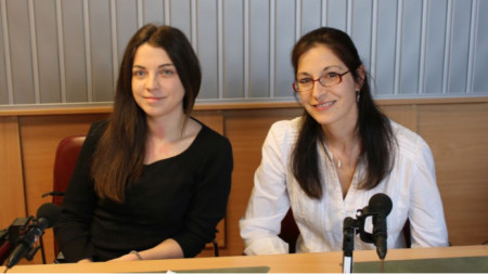 "Милица Соколов и Татяна Митова в студиото на ""Семейно радио"""