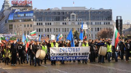 Протест на служители на МВР в София, 8 ноември 2020 г.