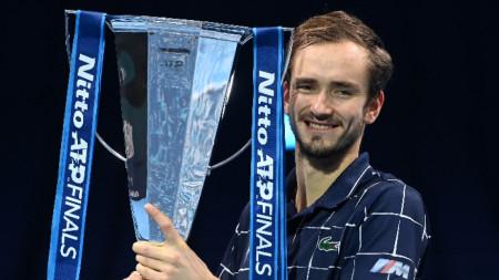 Даниил Медведев с титлата.