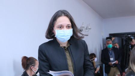 """Жени Начева и представители на """"Информационно обслужване"""" дадоха брифинг в Министерството на здравеопазването във връзка с Националната информационна система за Covid-19."""