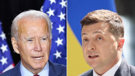 Джо Байдън и Володимир Зеленски