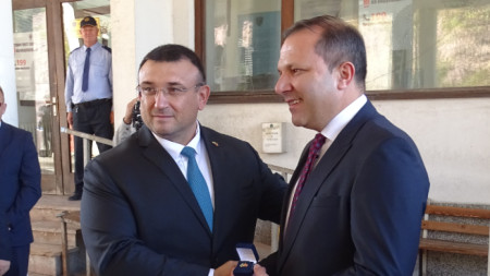 Министърът на вътрешните работи Младен Маринов проведе днес работна среща с колегата си от Северна Македония, министър Оливер Спасовски.