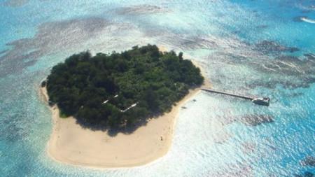 Остров Манагаха - един от Марианските острови, от въздуха