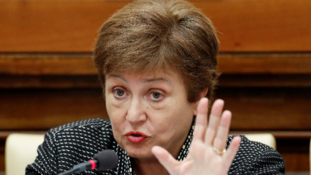 Управляващият директор на МВФ Кристалина Георгиева.