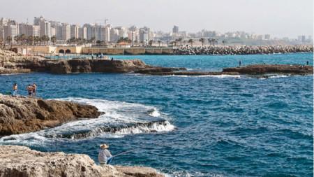Ливанското крайбрежие край Рауш