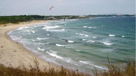 La playa Coral, en la costa sur búlgara del mar Negro
