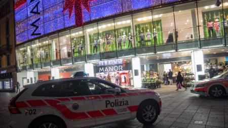 Мястото на атаката в Лугано.