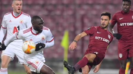 Футболистите на Клуж и ЦСКА София завършиха 0:0 в Румъния срещата си от първа група на турнира Лига Европа