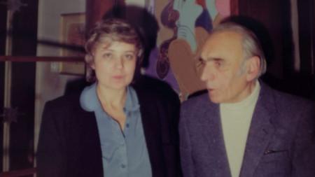 Юлия Петрова и Кирил Кръстев в началото на 70-те години на ХХ век