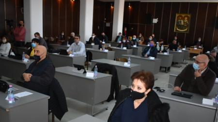 Заседание на общинския съвет в Сливен.