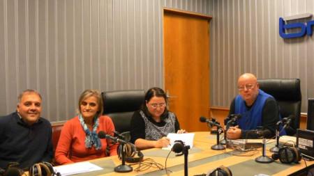 Гл. ас Галин Георгиев, Ценка Кучева, Таня Танасова-Тодорова и Румен Леонидов (отляво надясно).