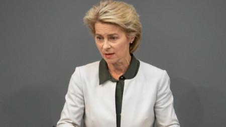 Германският военен министър Урсула фон дер Лайен