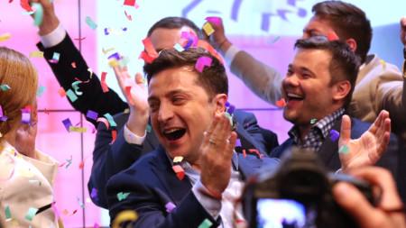 Володимир Зеленски реагира след победата на президентските избори в Украйна.