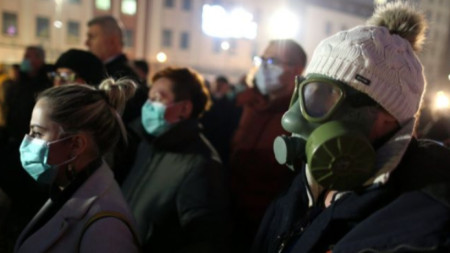 Протест в Босна и Херцеговина с искане за мерки за подобряване качеството на въздуха.