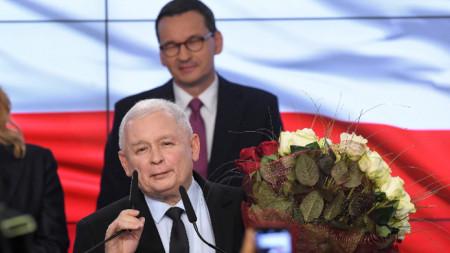 "Лидерът на ""Право и справедливост"" Ярослав Качински"