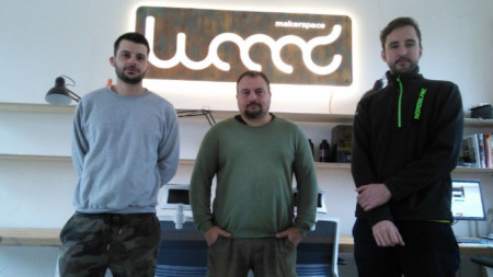 Georgi Komsalov, Boris Kalaydjiev and Yasen Nedyalkov, founders of the shared workshop