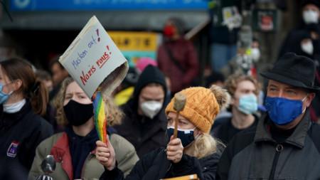 Протест срещу ограничителните мерки в Берлин, 22 ноември 2020 г.