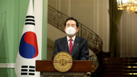 Чун Се-кьон, министър-председателят на Южна Корея
