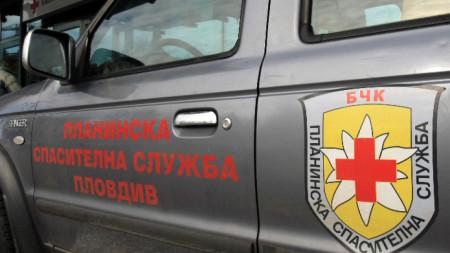 Автомобил на Планинска спасителна служба в Пловдив