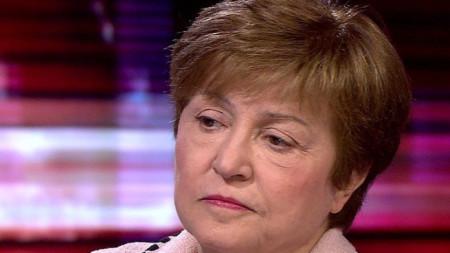 Кристалина Георгиева на интервюто пред Би Би Си.