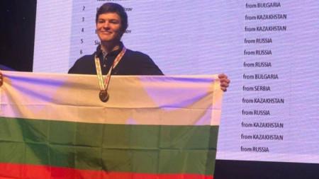 Радослав Димитров със златен медал от друга Международна олимпиада по информатика - в Казахстан през 2019