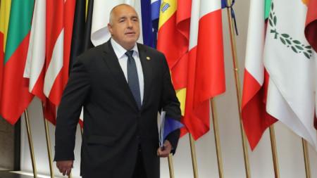 Премиерът Бойко Борисов в Брюксел на лидерската среща на ЕС.