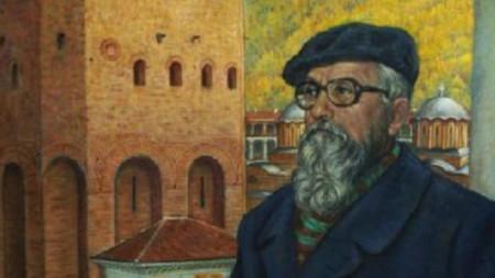 Портрет на проф. Василиев от Николай Ростовцев