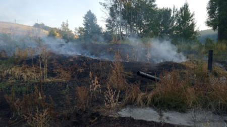 Към  момента на проверката от купчините с утайки са се отделяли димни газове, които се пренасяли в посока Радомир.