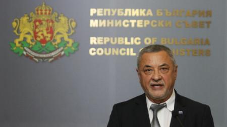 зампредседателя парламента Валери Симеонов