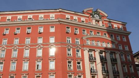 """Сградата на МТСП в столицата. Преди 9 септември 1944 г. там е била централата на застрахователно дружество """"Български феникс""""."""