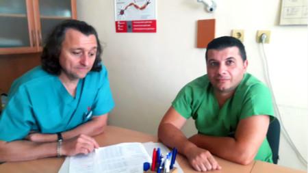 Д-р Стефан Шишков и д-р Северин Чавдаров