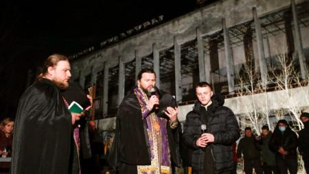 Служба в памет на жертвите в Припят, Украйна, 26 април 2021 г.