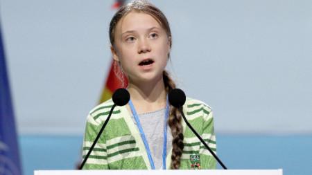 Изказване на Грета Тунберг на Конференция на ООН по изменението на климата в Мадрид