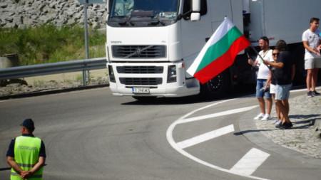 Преди дни протестиращ затрудниха движението през кръговото кръстовище, свързващо Е-79 с началото на АМ