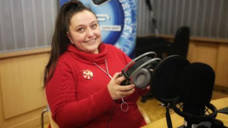 """Ива Антонова в студиото на """"Хоризонт за вас"""""""