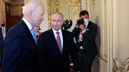 Джо Байдън и Владимир Путин